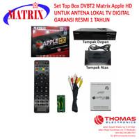 Set Top Box DVBT2 Matrix Apple HD UNTUK ANTENA LOKAL TV DIGITAL ORI