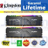 RAM DDR4 Kingston HyperX FURY 16GB RGB 2X8GB 3200MHz HX432C16FB3AK2/16