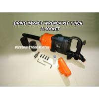 AIR IMPACT WRENCH 1 INCH / ALAT BUKA BAN MOBIL TRUK 2 SOCKET