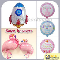 Balon Foil Karakter / Balon HBD Kartun / Balon Anak Murah - Baby Boy