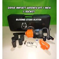 AIR IMPACT WRENCH 1 INCH / ALAT BUKA BAN MOBIL TRUK 5 SOCKET