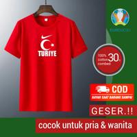 Kaos Collection Pria T-shirt Euro 2020 Turkey Fashion Wanita Atasan T