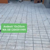 Batu Andesit bakar 10x20cm harga pabrik 1m²