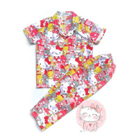 Lemonade Piyama Anak Hello Kitty Strawberry usia 1-2 tahun