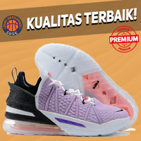 Sepatu Basket Sneakers Nike Lebron 18 Multicolor PURPLE PINK WHITE