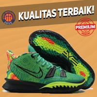 Sepatu Basket Sneakers Nike Kyrie 7 Weatherman GREEN HIJAU BLACK HITAM