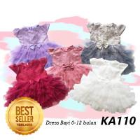 Dress Baju Gaun Pesta Bayi Perempuan 0- 12 bulan Princess Disney KA110