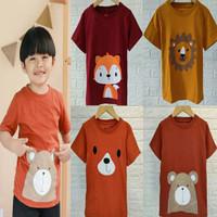 Baju Kaos Atasan Sablon Pakaian Main Anak Laki Laki Lelaki Cowok 1-5 T