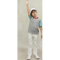 Kaos Couple Keluarga Little Pep Multicolor Series TShirt-Motif Garis - Autumn-Maroon, 2-3Y