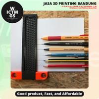 Penggaris Geser Kayu Sliding Ruler Wood 3D Print Bandung WICTMGS