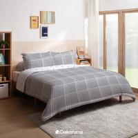 Dekoruma Erka Selimut Bed Cover Motif Kotak - Single 140 / Double 230