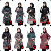 Baju Atasan Wanita / Tunik Panjang Baju Batik Wanita /Tunik Blus Batik