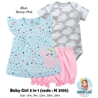 3 IN 1 CUTE BABY GIRL / CARTER BABY JUMPER / BAJU BAYI PEREMPUAN