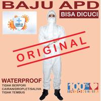 Baju APD Hazmat suit anti virus ( bisa dicuci ) bahan pvc waterproof