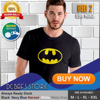 Baju Kaos Tshirt Superhero Super Hero Dewasa Premium DC Logo Batman 02