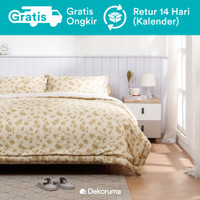 Dekoruma Nasha Brown Bed Cover Motif Kotak - Single 140 / Double 230