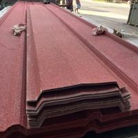 atap spandek berpasir warna merah