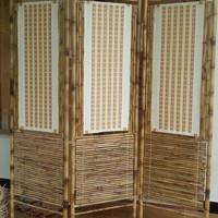 Partisi Bambu / Pembatas Ruangan / Sketsel Bambu Cendani