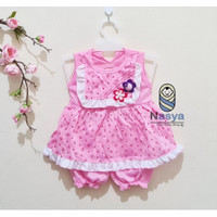 0142- Flower- Setelan murah baju sehari-hari bayi perempuan 0-6 bulan