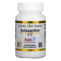 Astaxanthin 12 mg, 30 Veg Softgels,California Gold| Astaxantin Astalif