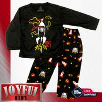 Setelan Panjang Baju / Kaos Anak Laki-laki ROKET SPACE 1 - 10 Tahun