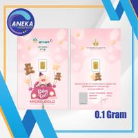 LOGAM MULIA MICRO GOLD ANTAM HARTADINATA 0.1 GRAM BABY GIRL 3 0.1GR