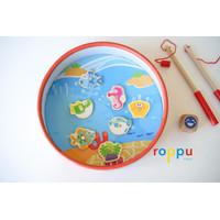 Roppu Fun Fishing Game with Puzzle / Mainan Pancing dan Puzzle Kayu
