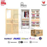 Lemari Pakaian Plastik Napolly Jumbo Rotan Big Cupboard / LP Napolly