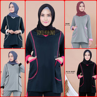 Kaos Olah Raga Muslimah Hilya Shirt. baju atasan wanita