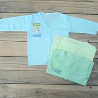 baju bayi kayana newborn lengan panjang(3 PCS)seri warna