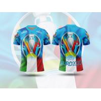 Baju Tshirt Kaos Jersey Dewasa Sepak Bola Italia Home Euro 2021 Custom - S, Lengan Pendek