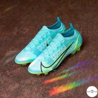 Sepatu Bola Nike Mercurial Vapor 14 XIV Elite FG Blue Premium Original