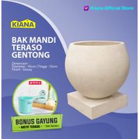 BAK MANDI TERASO BAKUL + TATAKAN / MODEL GENTONG / UKURAN 45 X 45 cm