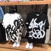 kaos bershka graffiti original store - Hitam, XS