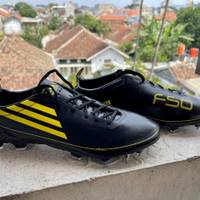 Sepatu Bola Adidas F50 Adizero Xghosted Core Black Yellow