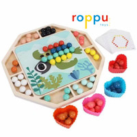 Roppu Clip Beads Game / Mainan Capit Beads Kayu Anak