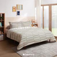 Dekoruma Komi Selimut Bed Cover Motif Putih - Single 140 / Double 230