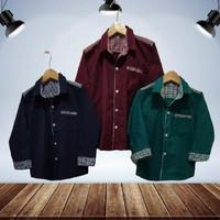 COD Baju Kemeja Anak Laki-Laki Genero Katun Strech Usia 3-10 Thn
