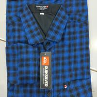 Kemeja Flanel Pria Kualitas Premium Lengan Panjang kemeja kotak pria - Biru