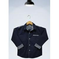 COD Baju Kemeja Anak Laki-Laki Genero Katun Strech Usia 3-10 Thn - Navy, 3-4 tahun