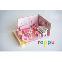Roppu Wooden 3D DIY Mini Dollhouse / Mainan DIY Rumah Boneka Mini Kayu