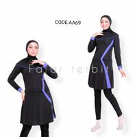 setelan renang wanita muslim pakaian renang perempuan dewasa baju Gp - AA69, M