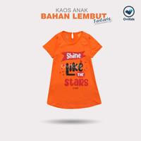 OVIKIDS - KAOS ANAK BAHAN LEMBUT TERLARIS (2-8/9th) - Orange, XS/2