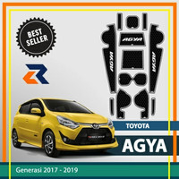 Aksesoris Door Groove Mat Toyota Agya/Anti slip rubber mat 1 set - Putih