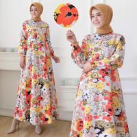 Gamis syari-Gamis wanita terbaru-Gamis motif bunga-baju gamis wanita