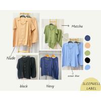 XYRA SET JUMBO (SOFT PINK) basic rayon set big size / pajamas / piyama