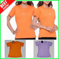 NEW Baju Sport Kaos Dryfit Wanita Lari Senam Yoga Olahraga Gym Dry Fit
