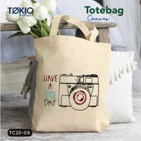 TOKIO Tote Bag Kanvas Tas Murah Import Bordir Motif Unik Korean Style