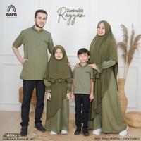 Sarimbit Keluarga Muslim Couple Gamis Hijau Baju Lebaran Rayyan Arra - KOKO ANAK, M