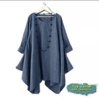 KINGS TOP JUNTAI ( 3 Size, 4 Warna ) Baju Atasan Blouse Muslim Wanita